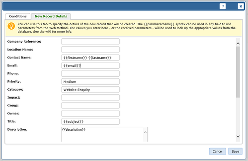 screenshot of vivantio add web methods 2