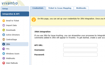 Screenshot of Jira Empty