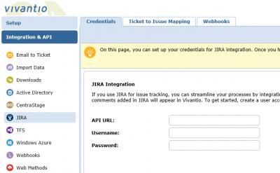 Screenshot of Jira Empty