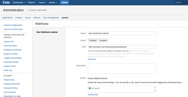 Jira New WebHook