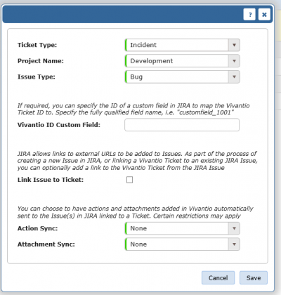 Jira Ticket to Issue Mapping Empty