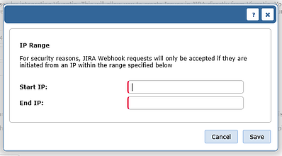 Jira IP range dialogue