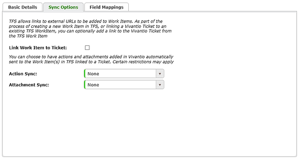 Team Foundation Server Ticket To Work Item Mapping Empty Sync Options