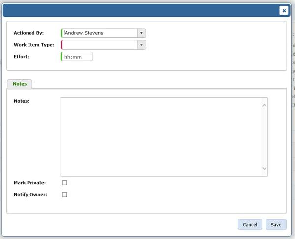 Team Foundation Service Create New Work Item Dialog Empty