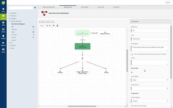 Screenshot of workflow sample